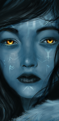 Аватар вконтакте Девушка с янтарными глазами, by meluseena
