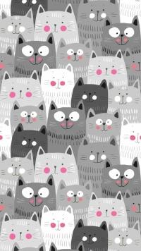 Аватар вконтакте Серые и белые коты
