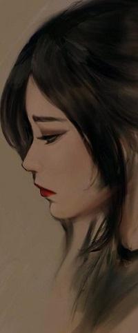 Аватар вконтакте Портрет девушки в профиль