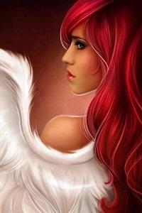 Аватар вконтакте Портрет красноволосой девушки-ангела