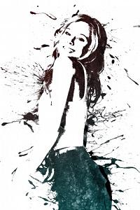 Аватар вконтакте Черно-белый портрет улыбающийся девушки