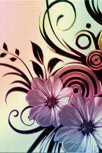 Аватар вконтакте Цветочный узор на розовом фоне