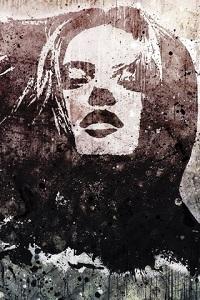 Аватар вконтакте Черно-белый смазанный портрет
