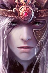 Аватар вконтакте Парень-эльф в шлеме воина