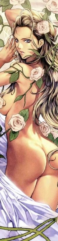 99px.ru аватар Обнаженная девушка среди кремовых цветов