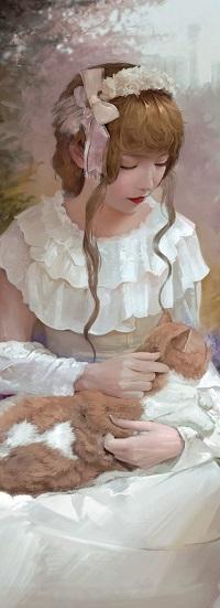 Аватар вконтакте Девушка с котом на руках