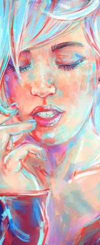 Аватар вконтакте Портрет девушки с закрытыми глазами, by gabrielleragusi