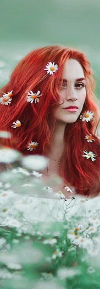 Аватар вконтакте Девушка с ромашками на волосах, фотограф Светлана Беляева
