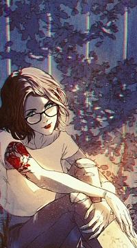 Аватар вконтакте Девушка в очках с тату на руке