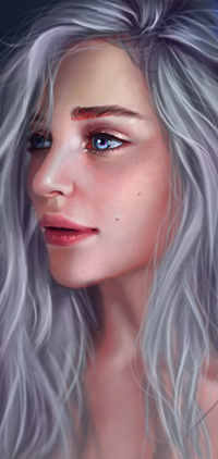 Аватар вконтакте Белокурая и голубоглазая девушка, by Bladdneart