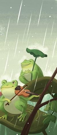 Аватар вконтакте Две лягушки под дождем