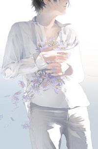 Аватар вконтакте Парень в белой одежде на белом фоне держит ромашки