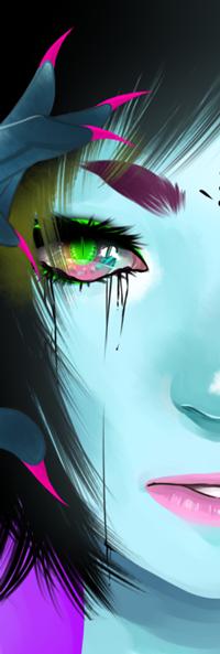 Аватар вконтакте Темноволосая девушка-демон, by NekoBobo
