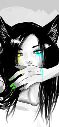 Аватар вконтакте Девушка-нэко с разноцветными глазами, by NekoBobo