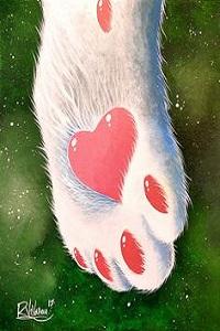 Аватар вконтакте Кошкина лапка с сердечком на ней, by Raphael Vavasseur