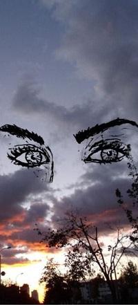 99px.ru аватар Глаза девушки в облачном небе