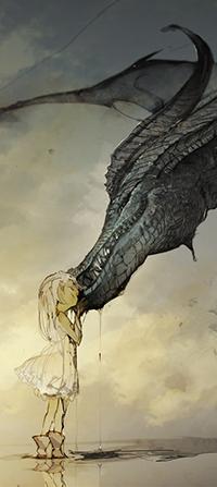 Аватар вконтакте Маленькая девочка и дракон, автор Demizu posuka