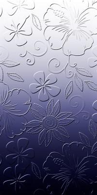 Аватар вконтакте Рельефные цветы на бело-синем фоне
