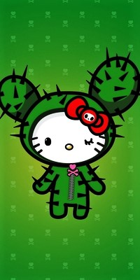 Аватар вконтакте Китти в костюме кактуса