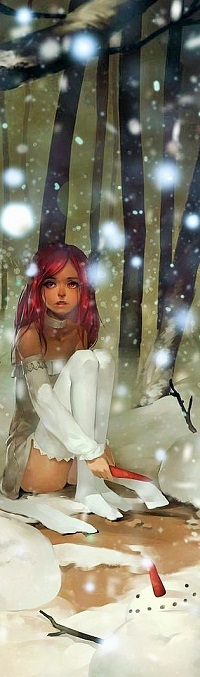 Аватар вконтакте Девочка с красными волосами сидит на песке с морковкой в руке