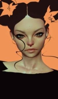 Аватар вконтакте Девушка с цветами в волосах, by CezarBrandao