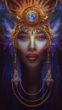 Аватар вконтакте Королева в короне, украшенной крупными драгоценными камнями, by estellium