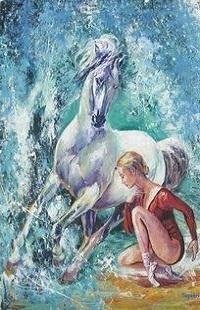 Аватар вконтакте Девушка сидит рядом с лошадью, by MOHSEN SEPEHRI