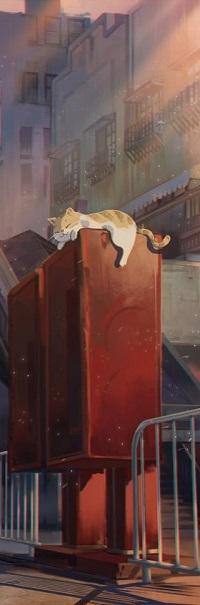 Аватар вконтакте Рыжий кот лежит на шкафу