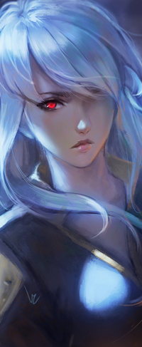 Аватар вконтакте Белокурая девушка с алым глазами, Seira - фан-арт Noblesse, by chaosringen