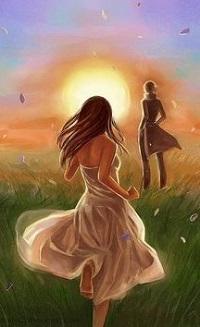 Аватар вконтакте Девушка бежит к парню, стоящему вдалеке, автор Chukairi