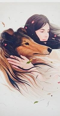 Аватар вконтакте Девушка обнимает собаку
