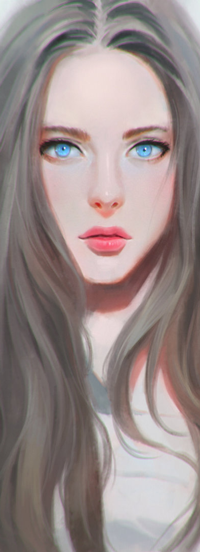 Аватар вконтакте Девушка с голубыми глазами, by chaosringen