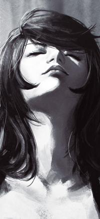 Аватар вконтакте Черно-белый портрет девушки, by GUWEIZ
