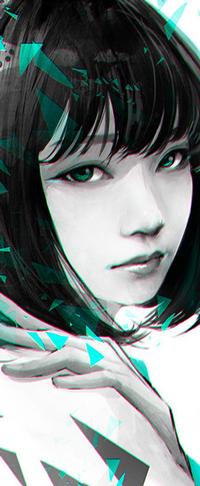 Аватар вконтакте Девушка с зелеными глазами, by wataboku