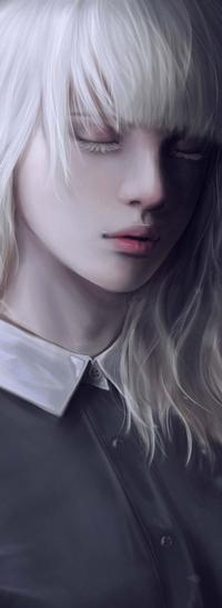 Аватар вконтакте Белокурая девушка с закрытыми глазами, by jennyshiii