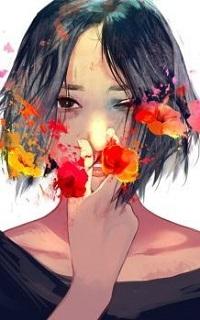 Аватар вконтакте Девушка с цветами на лице, by zephy0
