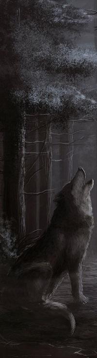 Аватар вконтакте Воющий волк в лесу