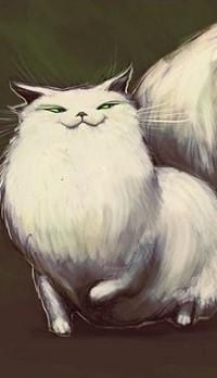 99px.ru аватар Рисованная пушистая кошка