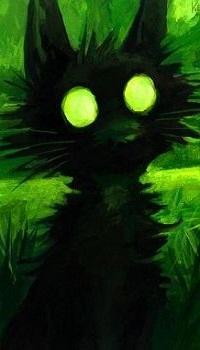 99px.ru аватар Ночное видение черного кота с желтыми глазами, by kenket