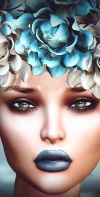 Аватар вконтакте Гламурная девушка с цветами на голове