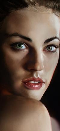 99px.ru аватар Портрет девушки на темном фоне, by mehdic