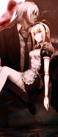 Аватар вконтакте Мужчина держит девушку на руках ночью под луной и курит