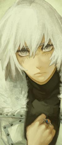 Аватар вконтакте Парень аниме в белой шубе и с перстнем на руке