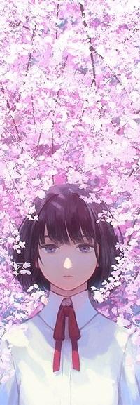 99px.ru аватар Девочка стоит на фоне весенних цветов