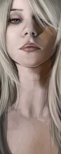 Аватар вконтакте Светловолосая девушка с голубыми глазами, by Taranir
