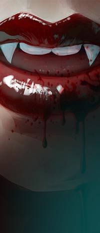 Аватар вконтакте Кровавые губы вампирши, by Razaras