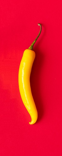 Аватар вконтакте Острый желтый перчик на красном фоне