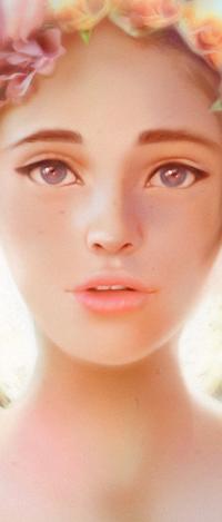 Аватар вконтакте Девушка с венком из цветов, by myjerart
