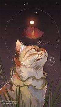 Аватар вконтакте Над головой кошки сухая роза, by Gato-Iberico