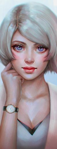 Аватар вконтакте Белокурая девушка с короткой стрижкой, by serafleur